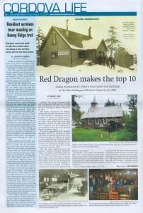 August 15, 2014 article in The Cordova Times