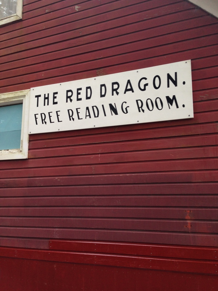 Red Dragon sign